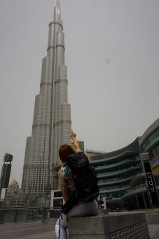 Impresionada con el Burj Khalifa...
