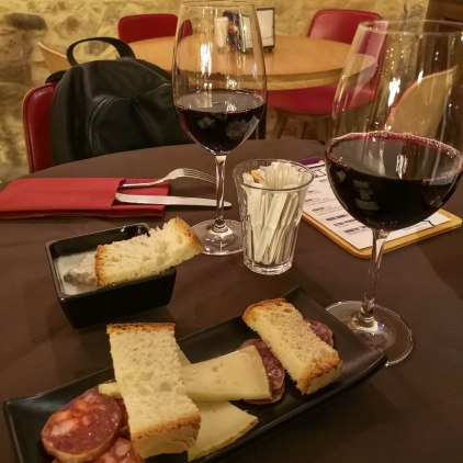 Cena en la Vinoteca Tostas