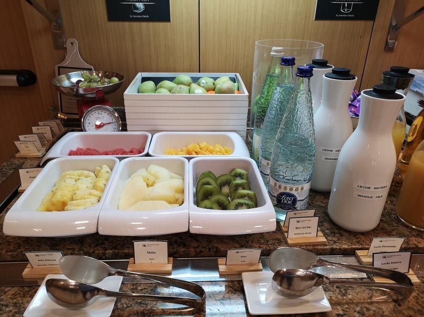 Desayuno en el hotel